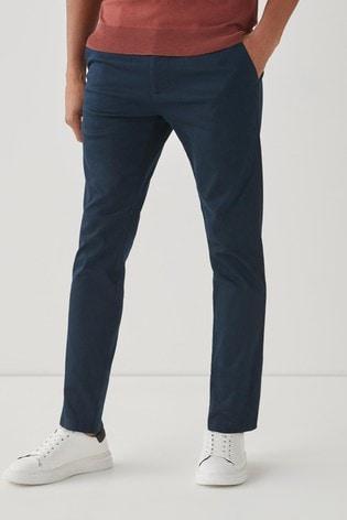 Navy Slim Fit Motion Flex Stretch Chino Trousers