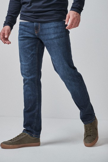 Mid Blue Slim Fit Motion Flex Stretch Jeans