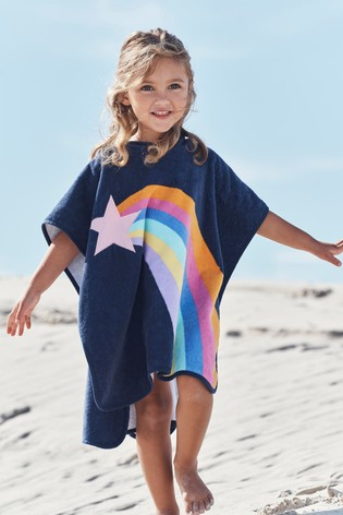 Navy Towelling Poncho