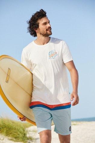 Ecru Marl Graphic Mr Blue Sky Organic Cotton Graphic T-Shirt