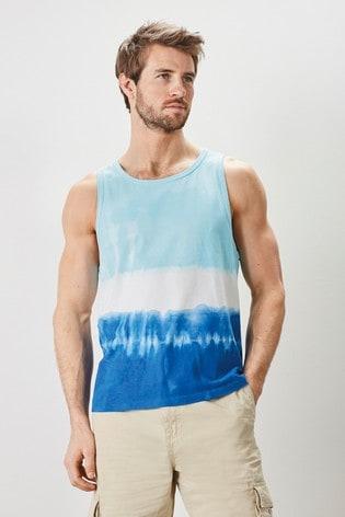 Blue Tie Dye Mr Blue Sky Organic Cotton Vest