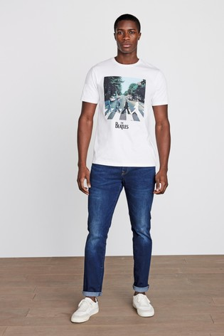 White The Beatles Licence T-Shirt