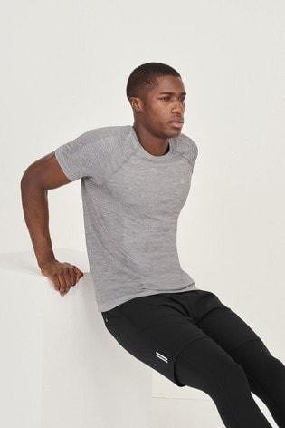 Grey Premium Seamless Short Sleeve Tee Next Active Sports T-Shirt