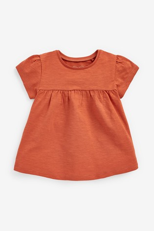 Rust Cotton T-Shirt (3mths-7yrs)