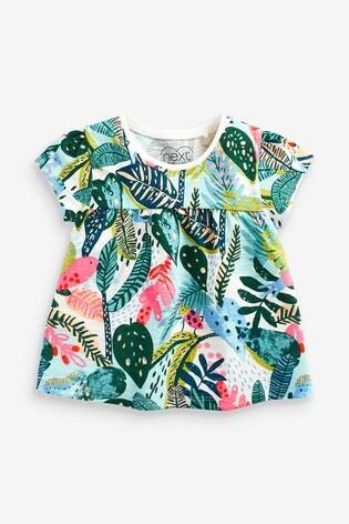Tropical Print Cotton T-Shirt (3mths-7yrs)