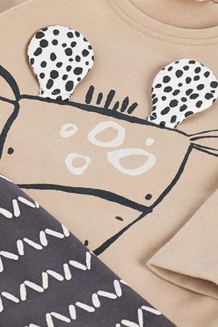 Mono Giraffe T-Shirt And Leggings Slogan Set (0mths-3yrs)