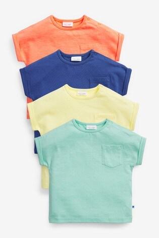 Bright 4 Pack T-Shirts (0mths-2yrs)