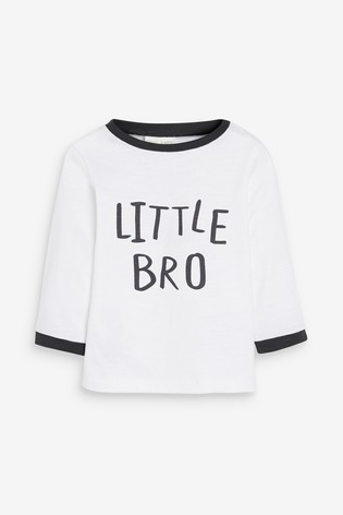 White Little Brother Long Sleeved T-Shirt (0mths-2yrs)