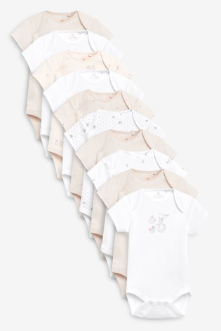 Pink 10 Pack Short Sleeve Bodysuits (0mths-3yrs)