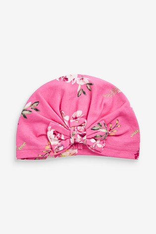 Pink Floral Turban (Younger)
