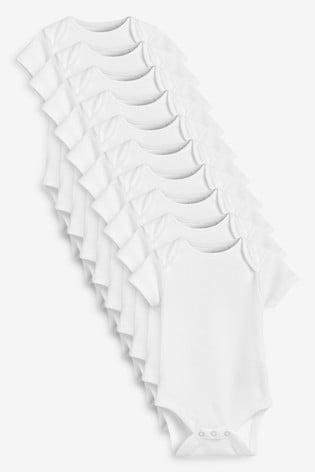 White Essential 10 Pack Short Sleeve Bodysuits (0mths-3yrs)