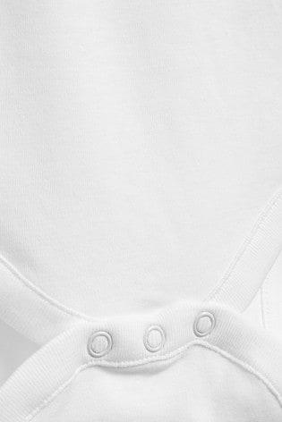 White 5 Pack Long Sleeve Bodysuits (0mths-3yrs)
