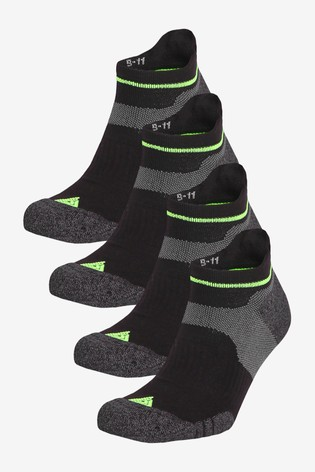 Black 4 Pack Next Active Cushioned Socks