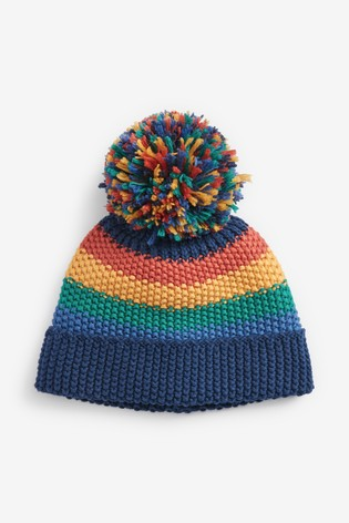 Multi Knitted Pom Hat (Younger)