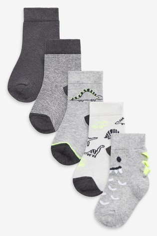 Monochrome 5 Pack Socks (Younger)