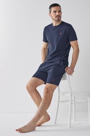 Navy Shorts Lightweight Loungewear