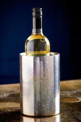 Silver Glitter Wine Cooler