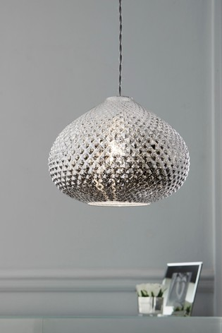 Chrome Glamour Easy Fit Pendant Lamp Shade