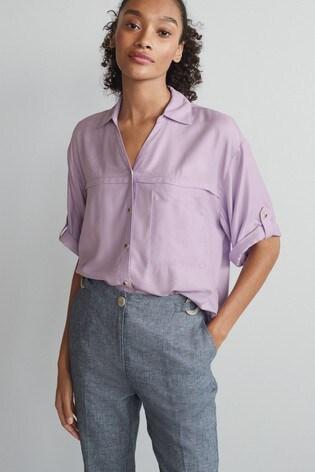 Lilac Short Sleeve Utility Shirt