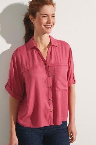 Red Short Sleeve Utility Shirt