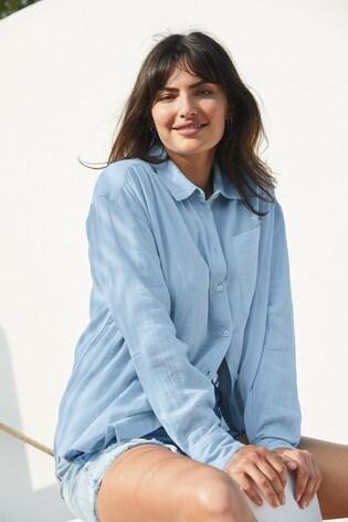 Blue Double Cloth Shirt