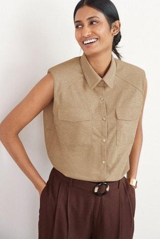 Neutral Sleeveless Shirt