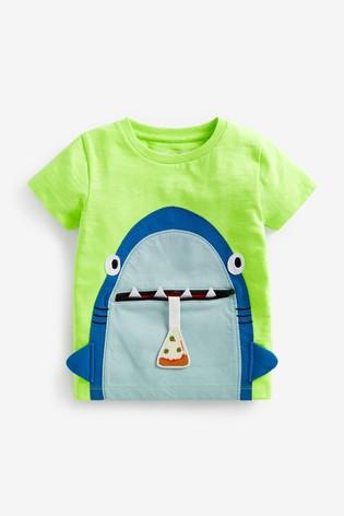 Fluro Shark Appliqué T-Shirt (3mths-7yrs)