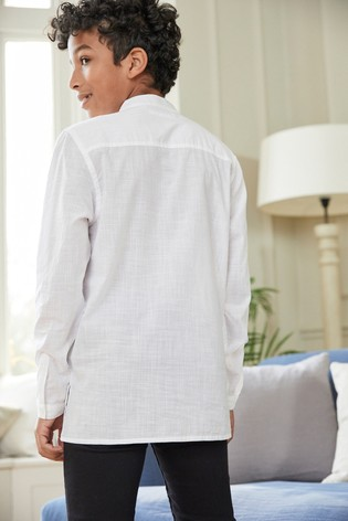 White Regular Length Embroidered Kurta (3-16yrs)
