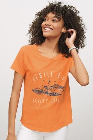 Orange Pentle Bay Graphic Raglan T-Shirt