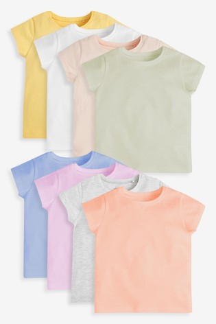 Multi 8 Pack Cotton T-Shirts (3mths-7yrs)