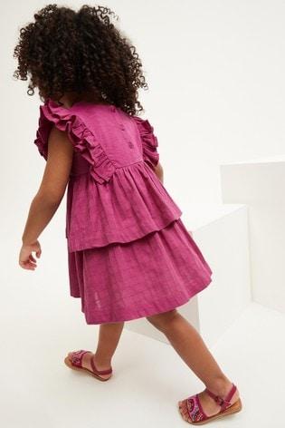 Magenta Ruffle Dress (3mths-7yrs)