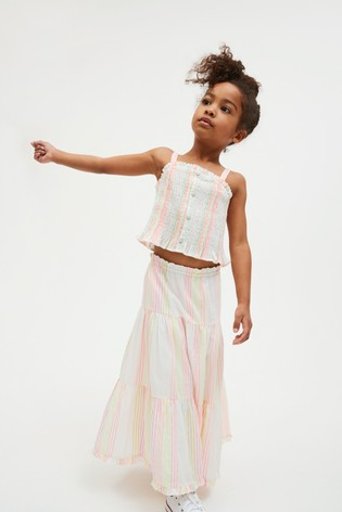 Fluro Stripe Cami And Skirt Co-ord Set (3-16yrs)