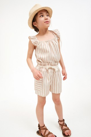 Stripe Co-ord Top And Shorts (3-16yrs)