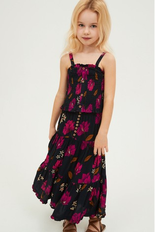 Navy Floral Cami And Skirt Co-ord Set (3-16yrs)