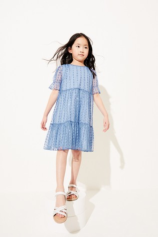 Blue Tiered Tulle Dress (3-16yrs)