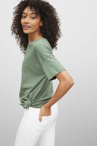Khaki Green Oversized T-Shirt
