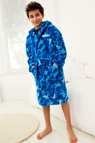 Blue Fortnite Robe (9-16yrs)