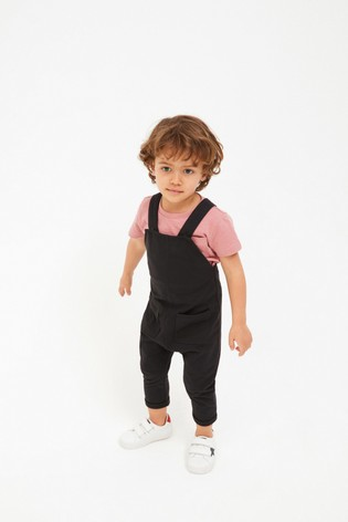 Charcoal Dungarees (3mths-7yrs)