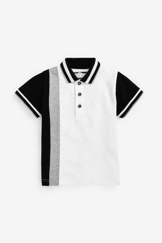 Mono Short Sleeve Jersey Colourblock Polo (3mths-7yrs)