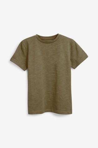 Khaki Green Short Sleeve Crew Neck T-Shirt (3-16yrs)