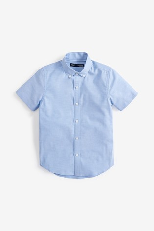 Blue Without Stag Short Sleeve Oxford Shirt (3-16yrs)