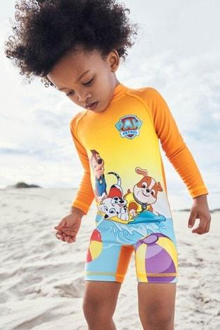Orange PAW Patrol Sunsafe Swimsuit (3mths-8yrs)
