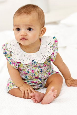 Ditsy Floral Collared Single Romper (0mths-3yrs)