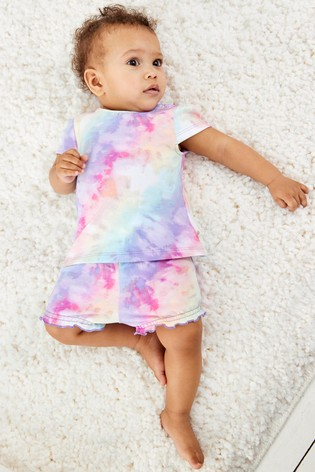 Multi Tie Dye T-Shirt And Shorts Co-ord Set (0mths-2yrs)
