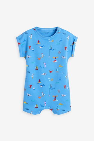 Blue Boats Single Printed T-Shirt Romper (0mths-3yrs)