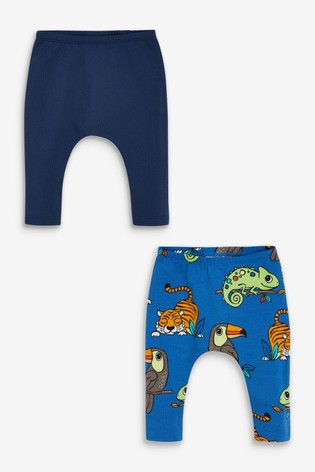 Blue 2 Pack Stretch Leggings (0mths-3yrs)