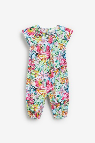 Multi Floral Woven Romper (0mths-3yrs)