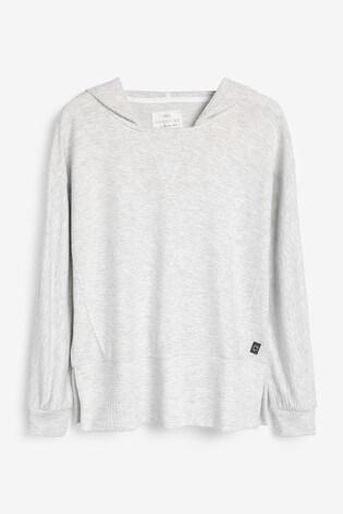 Grey Soft Viscose Hoody