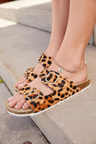 Animal Two Band Footbed Mules