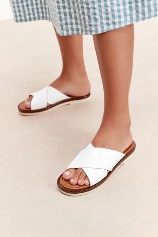 Bone Forever Comfort® Cross Vamp Mule Sandals